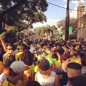 Vila Madalena before the Brazil vs. Cameroon World Cup game