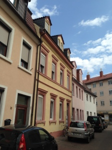 The yellow house was the home of my ancestors, Franz Anton and Maria Barbara (Weber) Buchner